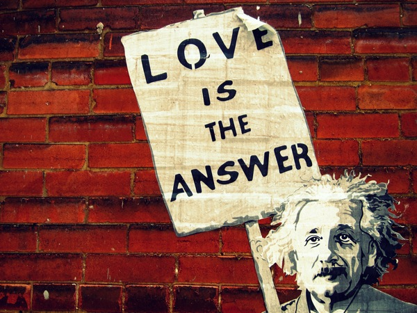 Photograph-Toronto-Canada-Ontario-Einstein-Love-is-the-Answer-Sign