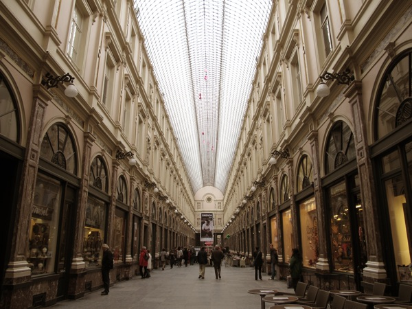 Photograph-Vienna-Brussels-Shopping-Mall-People-Stores