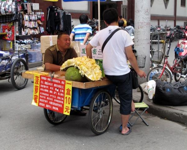 Shanghai-China-Photograph-Food-Jackfruit-Vendor