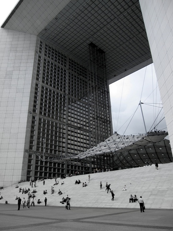 Travel-Photograph-Paris-France-Business-District-Square