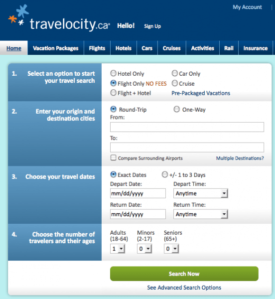 Travelocity-Search-Engine