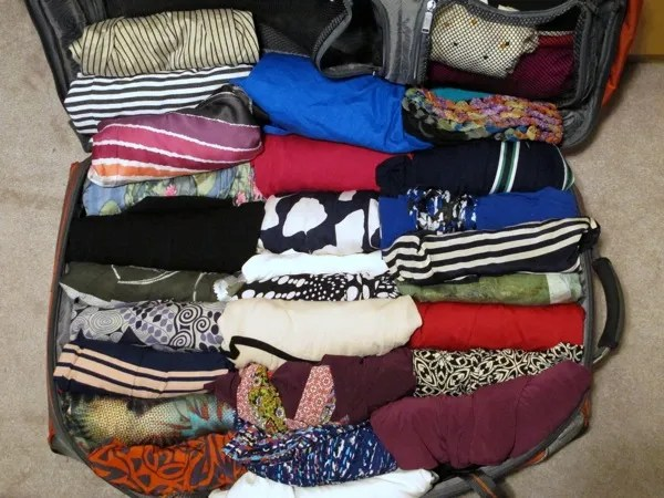 Wardrobe-Packing-Clothes-One-Suitcase-Closet-Top-Layer