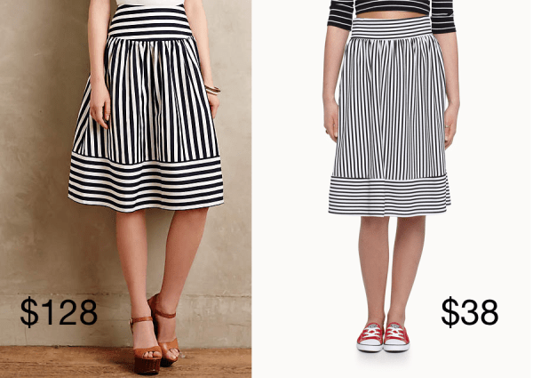 anthropologie-high-seas-skirt-versus-simons-saint-tropez-striped-skirt