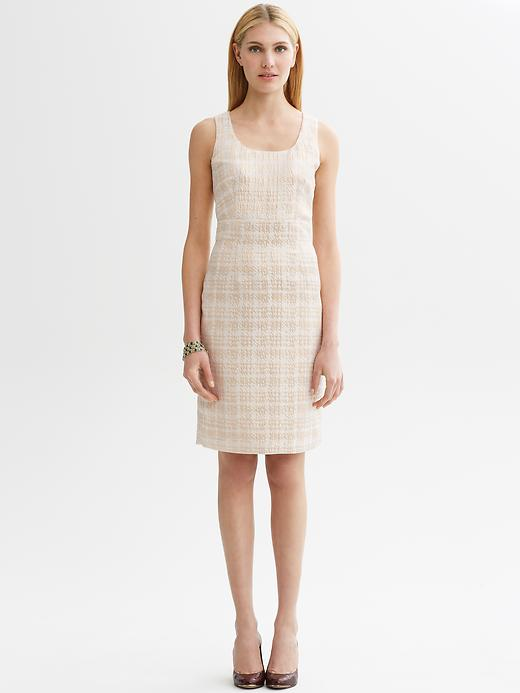 banana-republic-metallic-houndstooth-sheath-ivory-dress