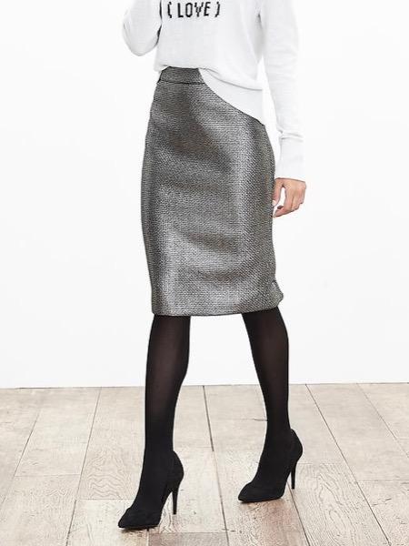 banana-republic-metallic-tweed-save-spend-splurge-review-jacquard-skirt