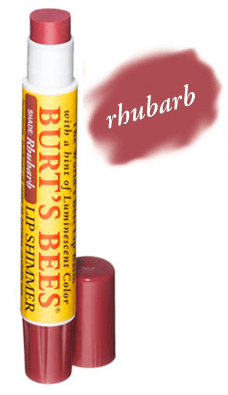 burts-bees-rhubarb-lip-shimmer-swatch-balm