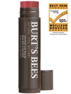 burts-bees-tinted-lip-balm-hibiscus-colour-swatch-tube