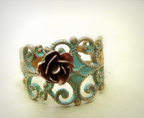 giveaway-save-spend-splurge-verdigris-copper-rose-ring-2