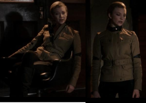 natalie-dormer-elementary-irene-adler-outfit-wardrobe-military-both