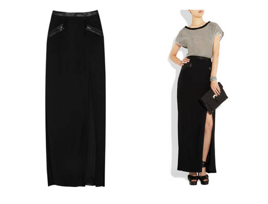 rag-and-bone-ashton-trimmed-leather-maxi-skirt