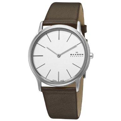 skagen-mens-watch-858XLSLD-Steel-Super-Slim-Brown-Watch