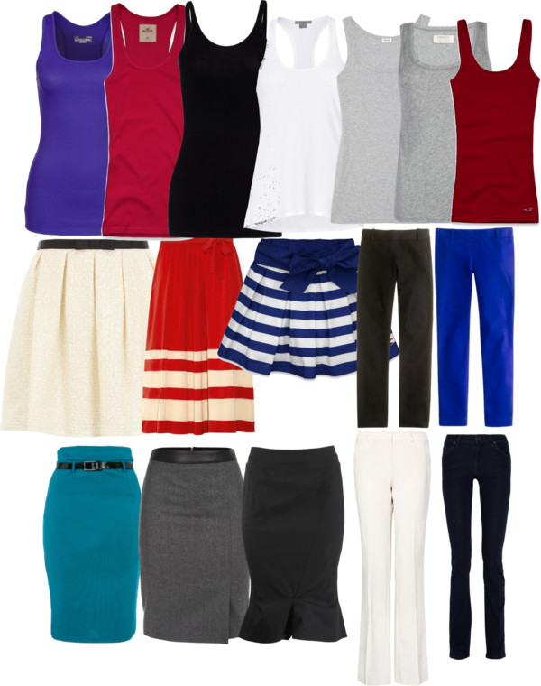 wardrobe-clothes-pruning-polyvore-season-spring-summer-skirts-bottoms