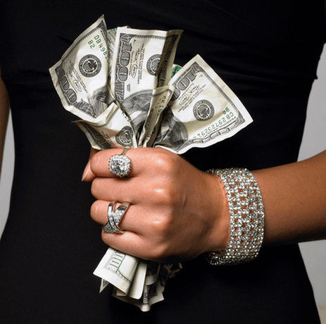 woman-golddigger-money-cash-bills-rich