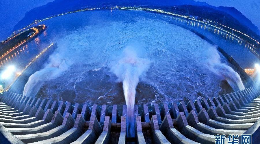 Photo: The Three Gorges opens its sluices in Yichang, central China's Hubei Province