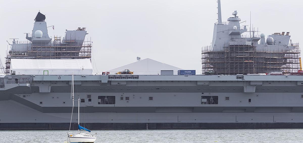 HMS Queen Elizabeth alongside in Portsmouth, March 2018