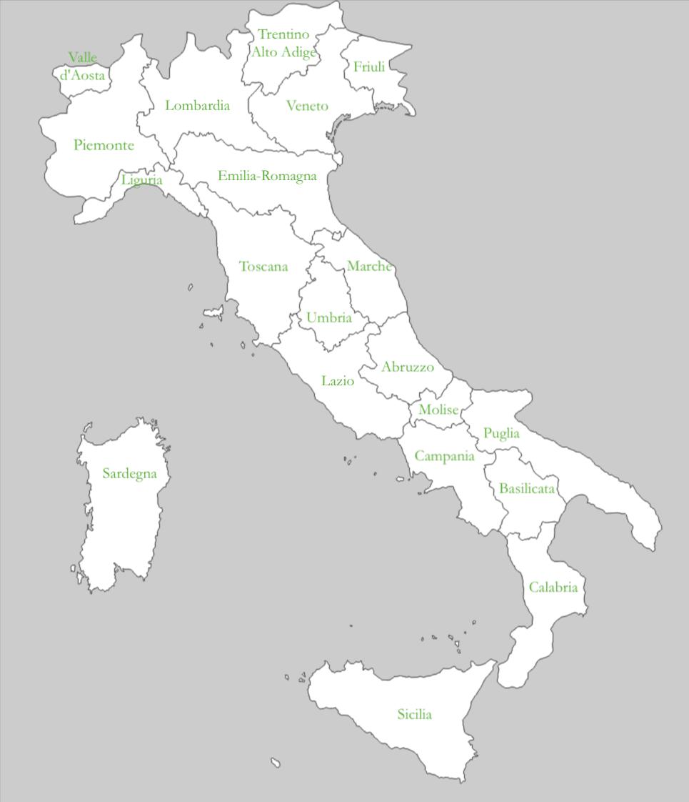 Carta delle regioni