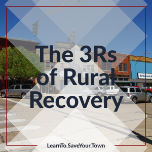 The 3 R's of rural recovery