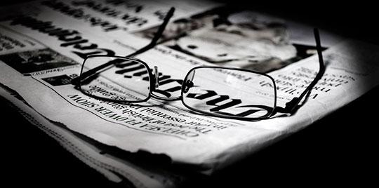 lunette sur journal2 Les verres de lunettes ne sont pas en verre ?