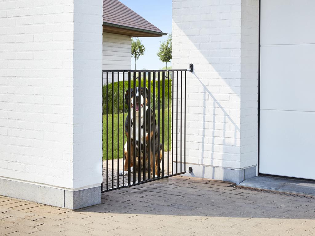 dog barrier gate outdoor dog gate