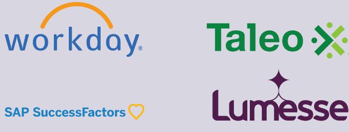 Workday, Taleo, SAP and Lumesse Intergration logos