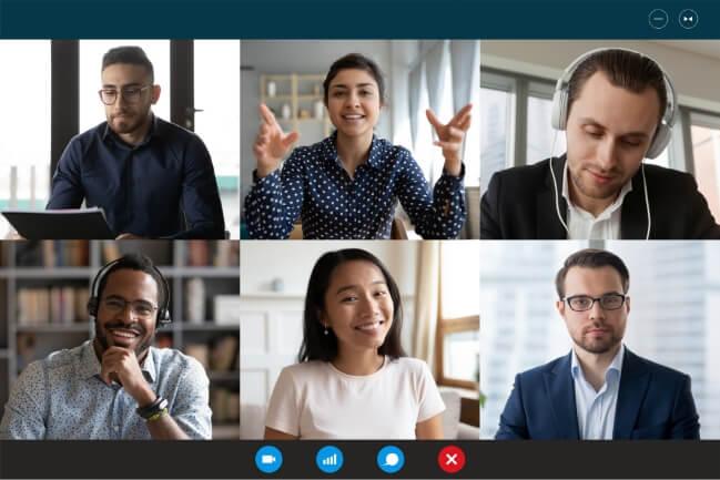 virtual training session on Microsoft teams