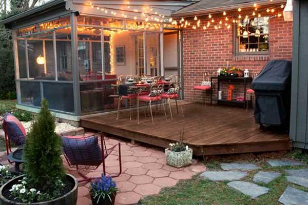 patio yard string lights ideas 3