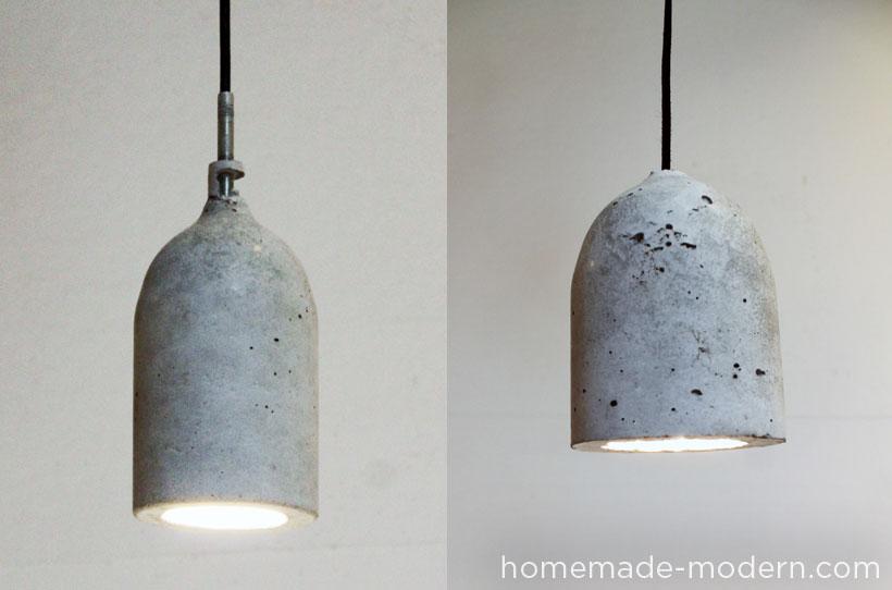 simple handmade industrial lighting