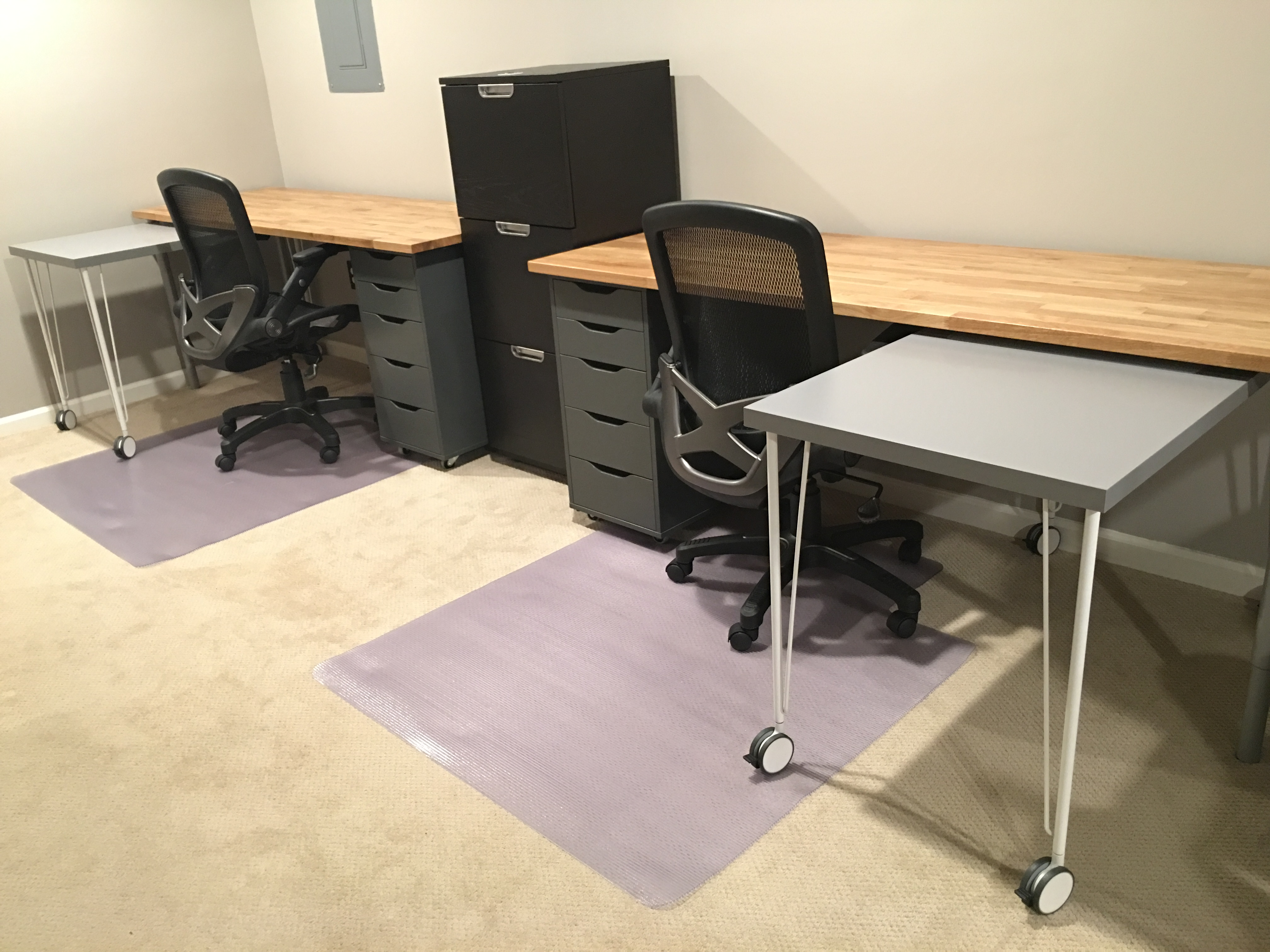 IKEA Hack  Custom  Transforming Home Office Desks   Saving Amy IKEA Hack Home Office Desk Complete