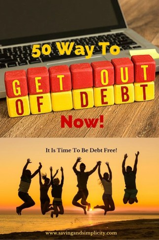 50 ways to get out of debt