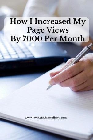 increased blog page views