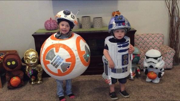 DIY BB-8 R2-D2 star wars costumes