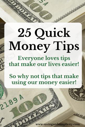 money tips, saving money, earning money