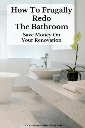 frugal renovation