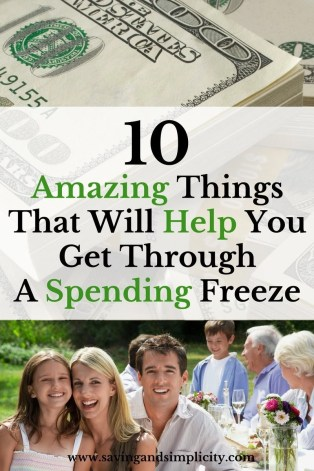 Are you on a month long spending freeze? A zero spend week or zero spend month? Here are 10 amazing things that will make your no spend challenge easier.