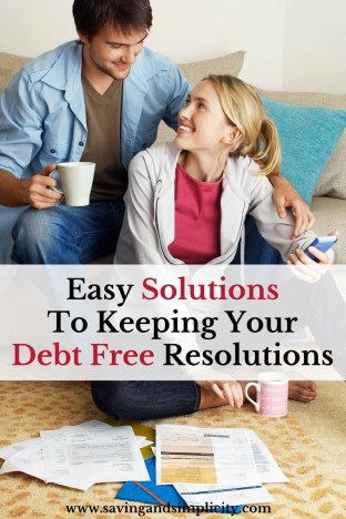 Did you set a goal this year to pay down your debt? Great! Here are 10 easy solutions and tips to help you keep your debt free resolution.