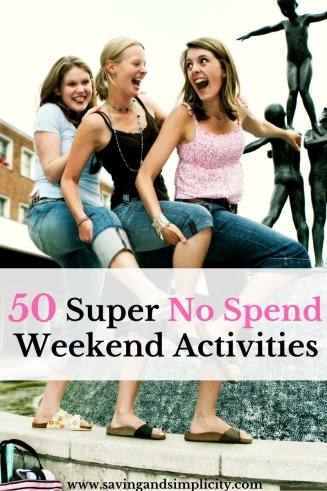 A no spend weekend is a time when you spend no money on things like entertainment. Have an amazing weekend with these 50 super frugal no spend activities.