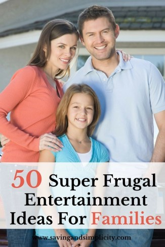 You want to have an amazing time together as a family without breaking the budget. Learn how with these 50 super frugal family entertainment ideas.