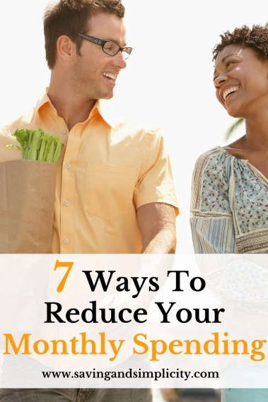 Do you find more money going out than coming in? You aren't alone! Learn 7 ways to reduce you monthly spending and household expenses. Learn to save money.