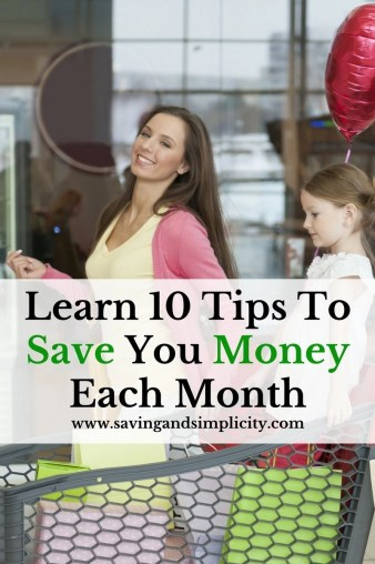 Are you frustrated trying to find ways to save money? Learn 10 things that help us save money each month. These items will surprise you. Simple solutions.