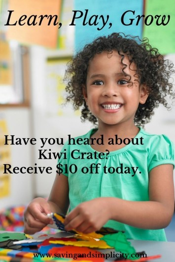 Have you heard of Kiwi Crate? They are an amazing innovative, creative, educational based kids activity box. Play, learn, grow. Save $10 off, try it today.