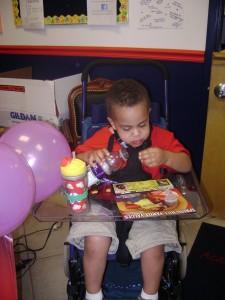 Case in his Kid Cart
