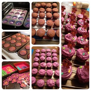 Purple butterfly cupcakes for MPS Awareness Day