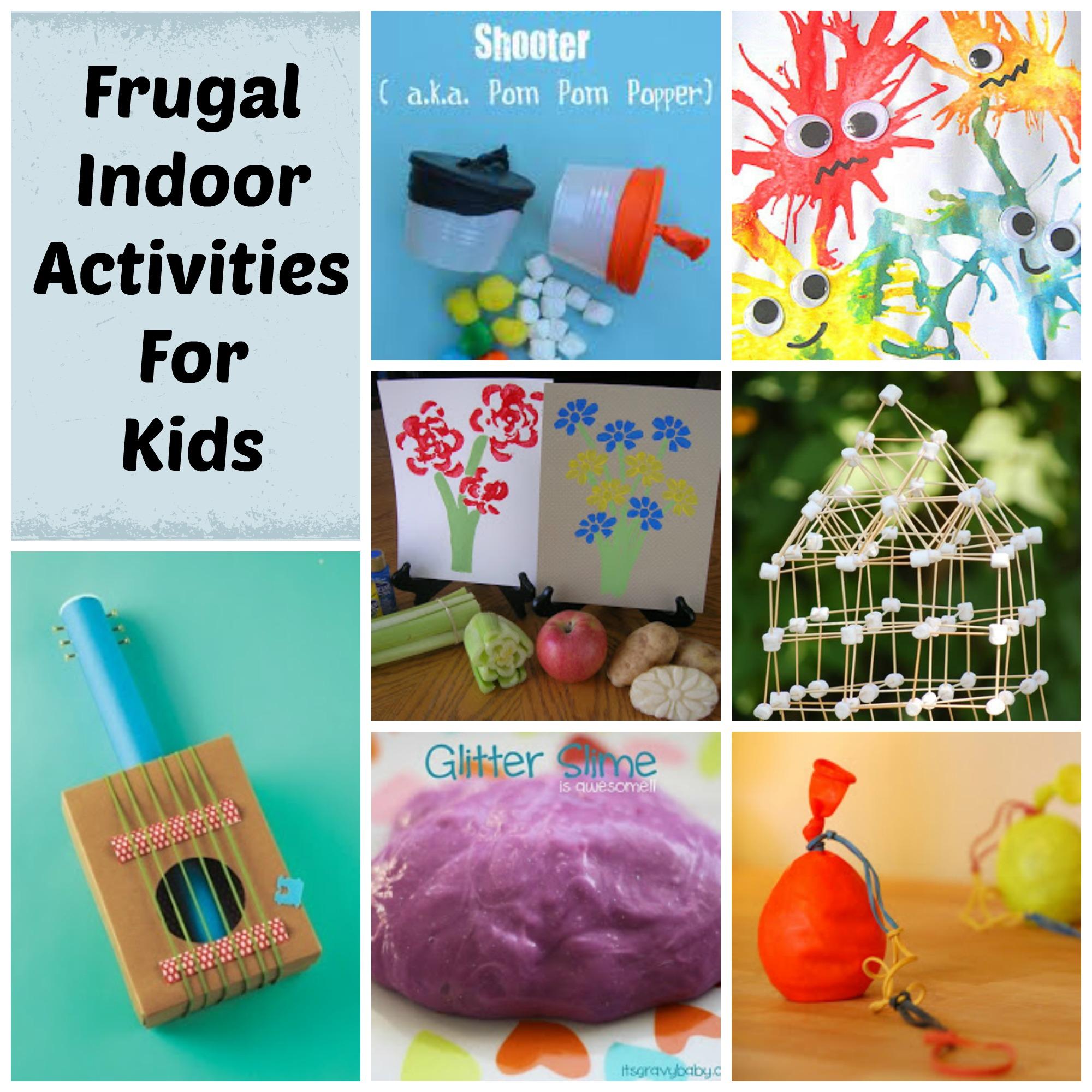 Frugal Indoor Activities For Children During Winter Part