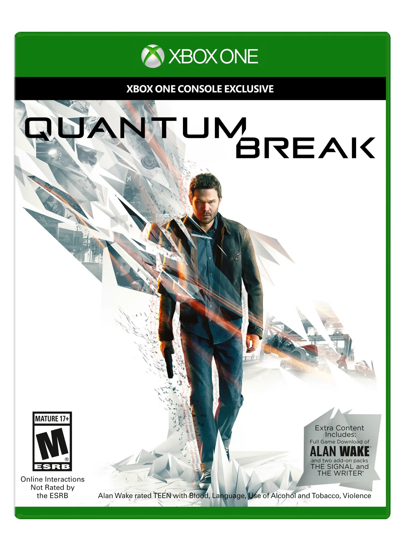 Quantum Break Xbox One Box Shot Angle Front