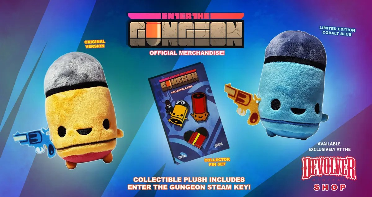 Enter the Gungeon - Plush and Pins