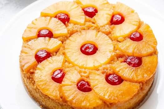 Pineapple Upside Down Cake Recipe - Saving Room for Dessert