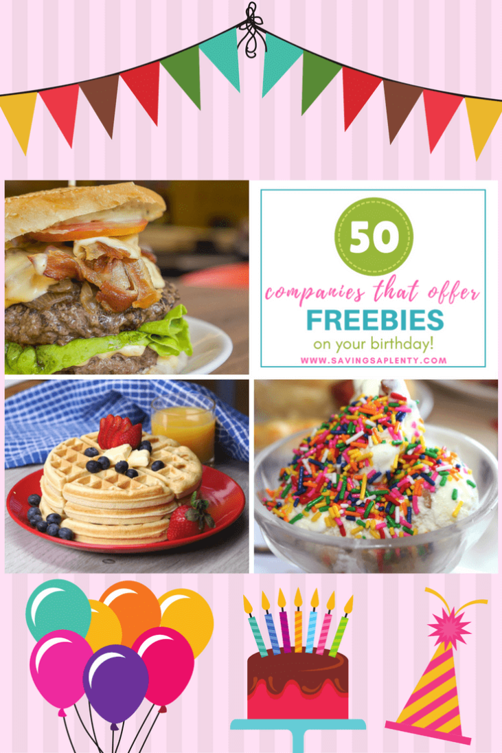 Do you love FREEBIES? Check out this page to find out how to score 50 FREEBIES and special discounts from multiple companies on your birthday!