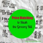 Price Matching to Slash the Grocery Bill
