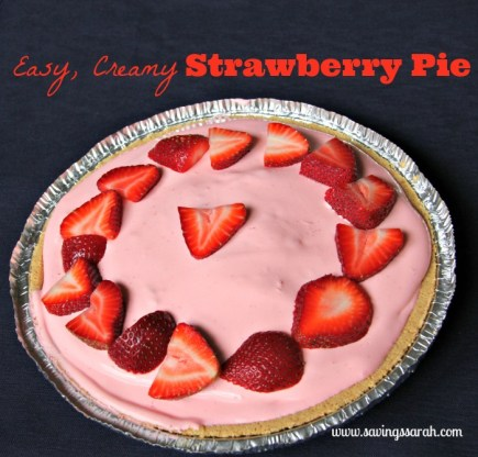 Easy, Creamy, Dreamy Strawberry Pie