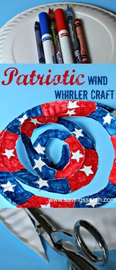 Easy Patriotic Wind Whirler Craft